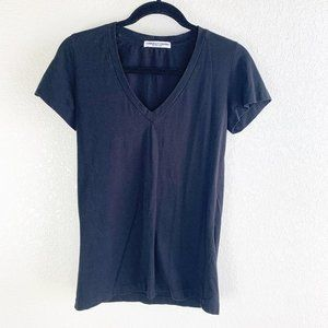 American Colors by Alex Lehr Black V-Neck Tee